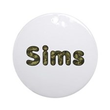 Sims Army Round Ornament