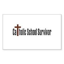 Catholic School Rectangle Decal