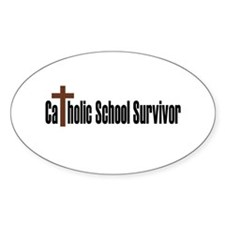 Catholic School Oval Decal