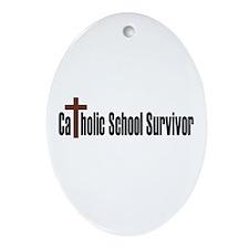 Catholic School Oval Ornament