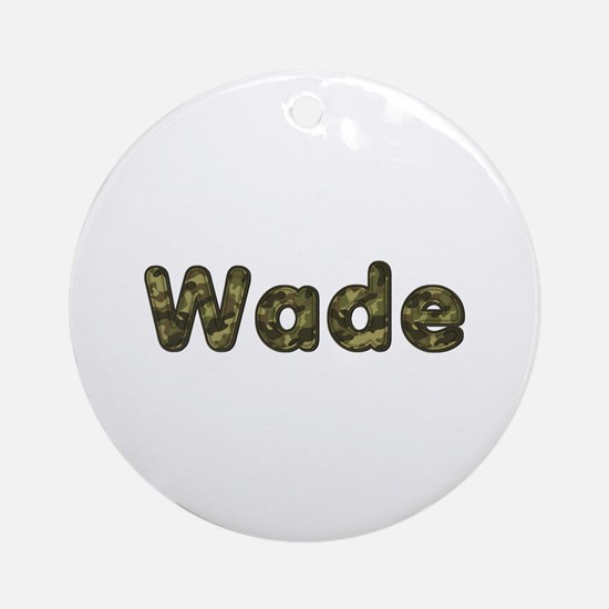 Wade Army Round Ornament