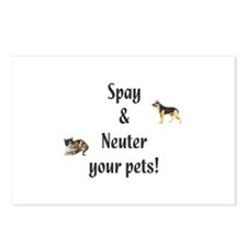 Spay and Neuter your pets (pic) Postcards (Package