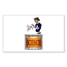 Science Grad Rectangle Decal
