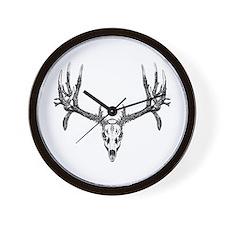 Drop tine buck skull Wall Clock