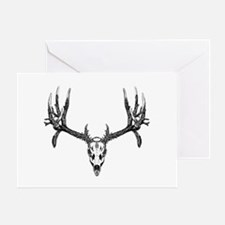 Drop tine buck skull Greeting Card