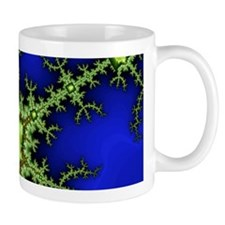 neon Green Blue Fractal Mug