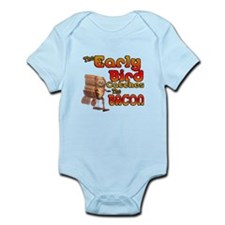 Funny Early Bird Catches The Bacon Infant Bodysuit