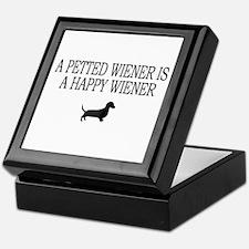 A Petted Wiener Is A Happy Wiener dachshund Tile B