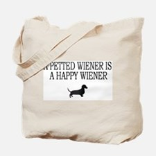 A Petted Wiener Is A Happy Wiener dachshund Tote B