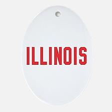 Illinois Oval Ornament