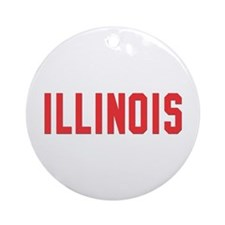 Illinois Ornament (Round)