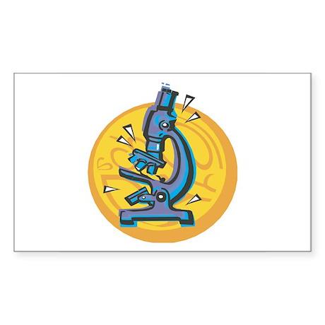 Microscope Design Rectangle Sticker