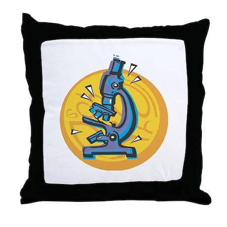 Microscope Design Throw Pillow