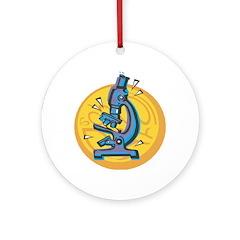 Microscope Design Ornament (Round)