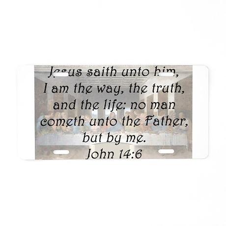 John 14:6 Aluminum License Plate