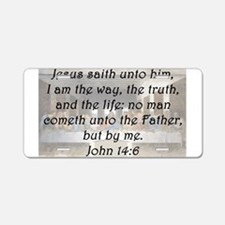 John 14:6 Aluminum License Plate