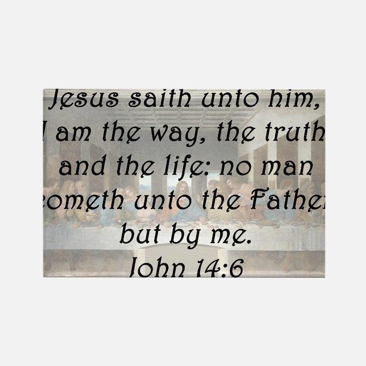 John 14:6 Rectangle Magnet