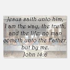 John 14:6 Postcards (Package of 8)