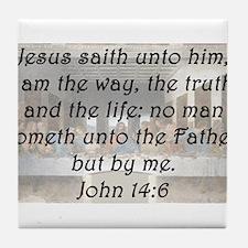 John 14:6 Tile Coaster