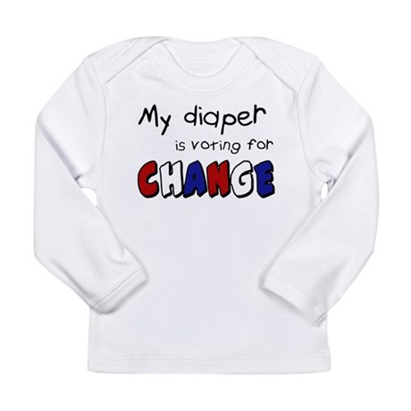 My diaper is voting for change Long Sleeve T-Shirt