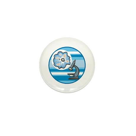 Cool Microscope Circle Design Mini Button
