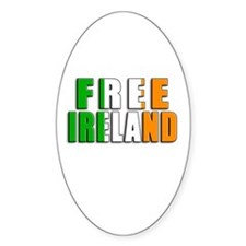Free Ireland Oval Decal