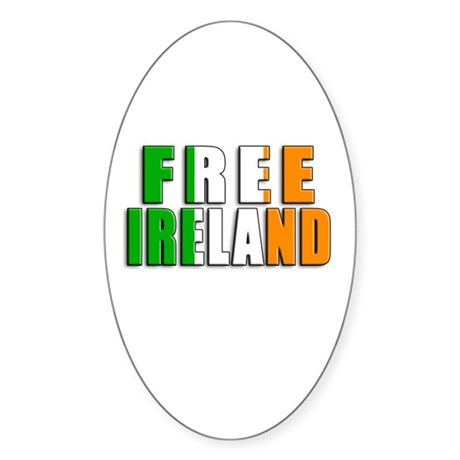 Free Ireland Oval Sticker