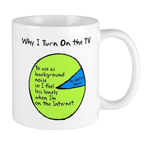 Why I Watch TV Mug