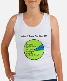 Why I Watch TV Women's Tank Top