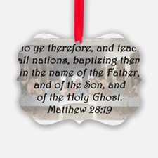 Matthew 28:19 Ornament