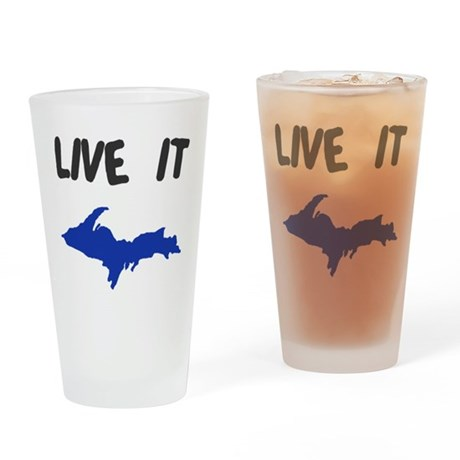 UP Upper Peninsula Michigan Drinking Glass
