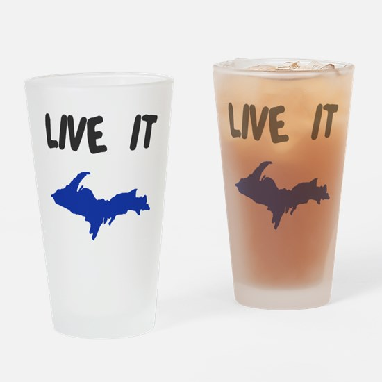 UP Upper Peninsula Michigan Drinking Glass