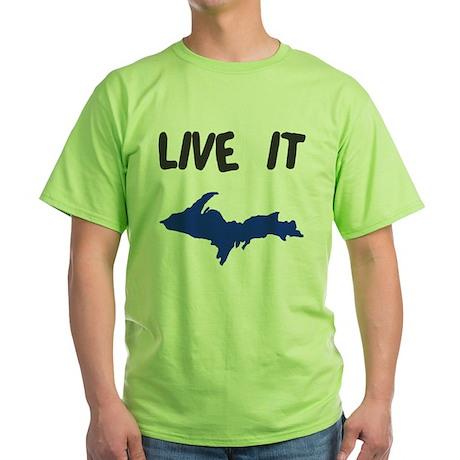 UP Upper Peninsula Michigan Green T-Shirt