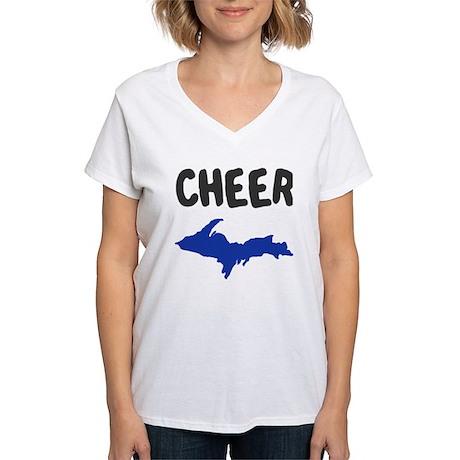UP Upper Peninsula Michigan Women's V-Neck T-Shirt