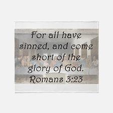 Romans 3:23 Throw Blanket
