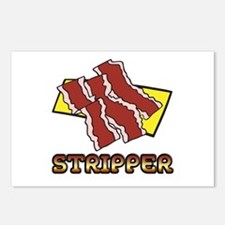 Funny Bacon Strips Stripper Humor Design Postcards