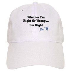 Right or Wrong White Baseball Cap
