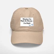 Right or Wrong Khaki Baseball Baseball Cap