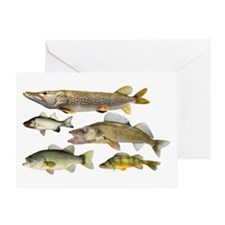 All fish Greeting Card