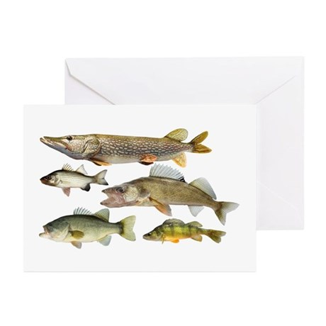 All fish Greeting Cards (Pk of 10)