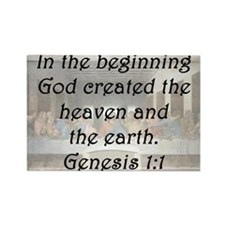 Genesis 1:1 Rectangle Magnet
