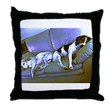 hard to be a dog Throw Pillow