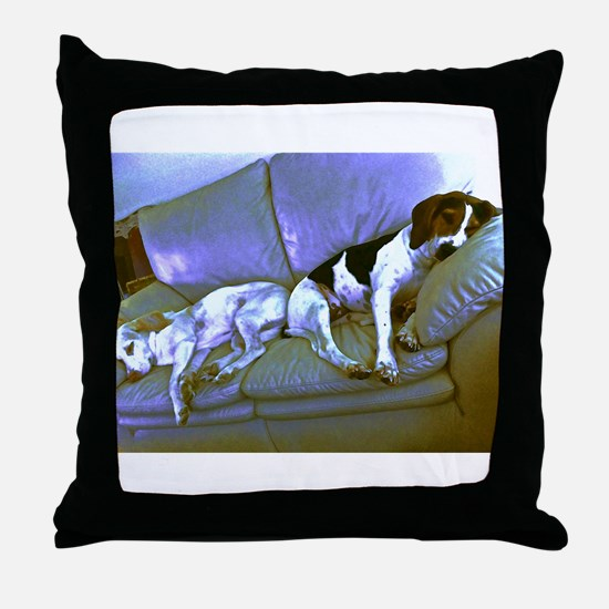 hard to be a dog Throw Pillow