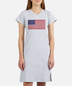 American Flag Women's Nightshirt