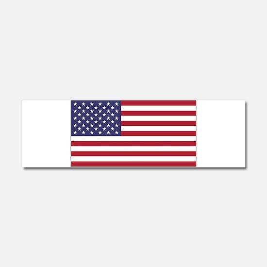 American Flag Car Magnet 10 x 3