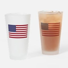 American Flag Drinking Glass