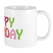 Colorful Happy Birthday Mug