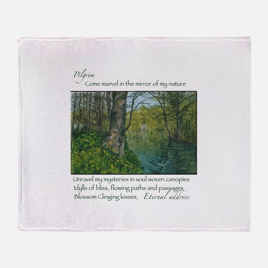 Penrhos idyll Throw Blanket