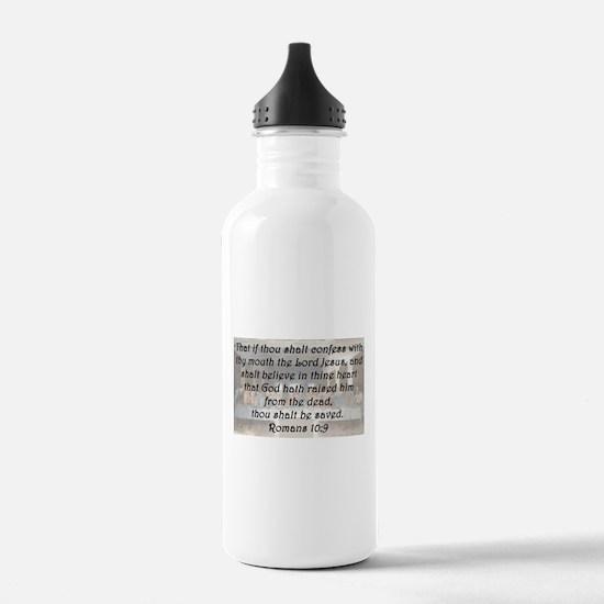 Romans 10:9 Water Bottle