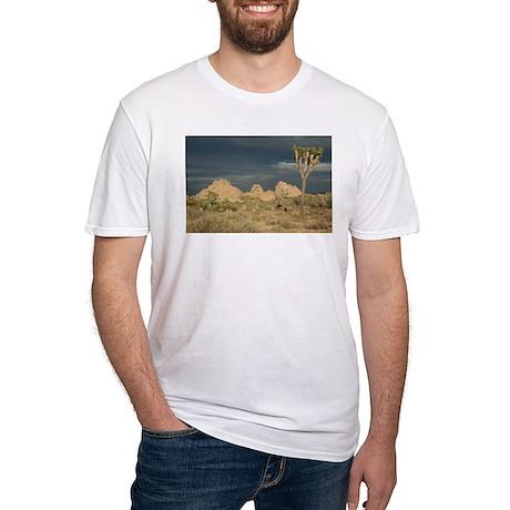 Joshua Tree Sunset Fitted T-Shirt